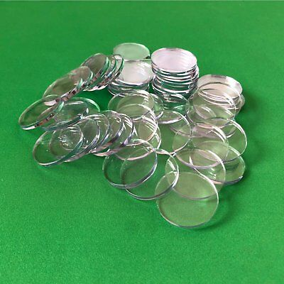 50 clear acrylic poker chip spacers