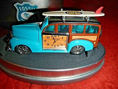 FOSSIL LTD. EDITION  Woody Wagon Deskclock ~ Vintage-Never displayed NEW Battery