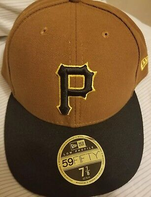 6b6b406cb79 New Era Pittsburgh Pirates Low Profile 59Fifty 7 7 8 Fitted Hat Brown MLB  NWOT