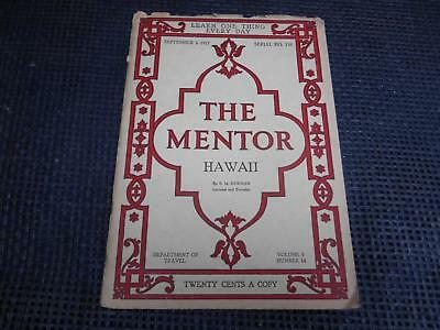 Antique 1917 THE MENTOR HAWAII Department of Travel E.M. Newman Old Information