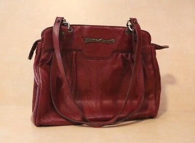 Etienne Aigner Vintage 1970's Leather Purse Bag Burgundy