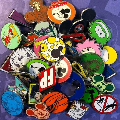 33 Disney Pin Lot Puffles Marie Cat Jungle Boy Attractions Pancake Pendant 25 50