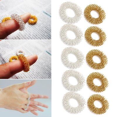 1/5/10PC Finger Massage Ring Acupuncture Health Care Body Acupressure MassagerGL