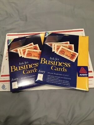Avery Ink Jet Business Cards 8376 Lot Of 2