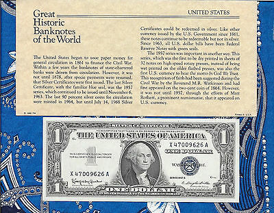 Great Historic Banknotes United States 1957B $1 Silver Certificate X-A UNC P419b