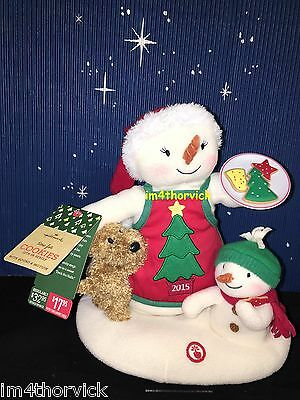 Hallmark 2015 Time For Cookies - Snowman and Puppy Dog Jingle Pals Plush