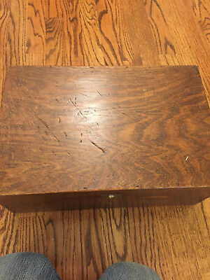 Very Old Wooden Tea Box With Metal Lining - Print with Japanese Ladies