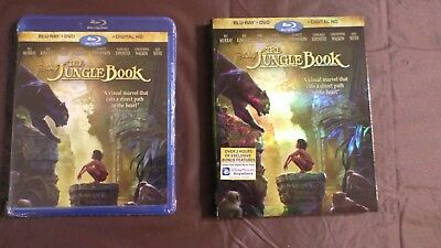 BLU-RAY + DVD + DIGITAL HD DISNEY'S THE JUNGLE BOOK  2016 New and Sealed