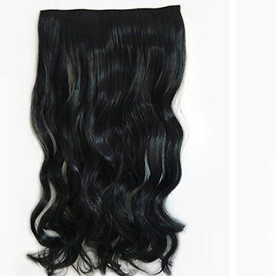 Stylish Women Long Wavy Curly Hair Wigs 5 Clips HairpieceF5