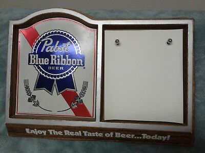 1982 Pabst Blue Ribbon Plastic  Note Pad Sign - Milwaukee, WI