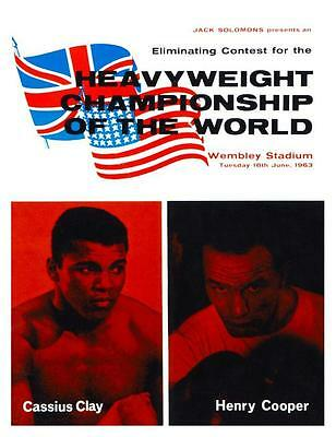 Muhammad Ali vs Henry Cooper LARGE POSTER Cassius Clay 1963 BOXING CHAMPIONSHIP