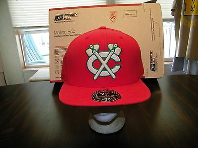 CHICAGO BLACKHAWKS MITCHELL & NESS FITTED 7 3/8 Vintage Cap Throwback M&N NHL