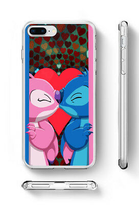 Stitch and Angel Inspired soft rubber silicone iPhone Samsung HTC phone case