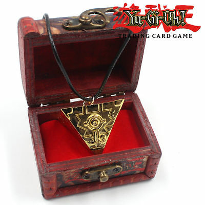 Yu Gi Oh Yugi Muto Millenium Puzzle Millennium Cosplay Necklace with Wooden Box