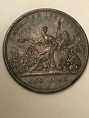 American Institute of New York Awards Medal 1833 Copy Of Medal Military Nice