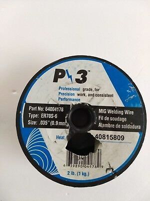 "P3 Mig Welding Wire 2 Lb Spool Part#64004178  Type: Er70S-6  Size .035""/9Mm"