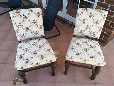 Two Matching Antique Victorian Parlour chairs in good condition