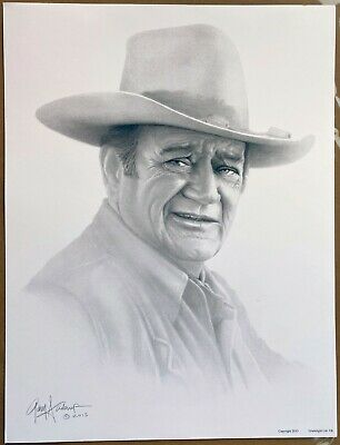 Lithograph of Charcoal Drawing Signed by Gary Saderup President Donald Trump