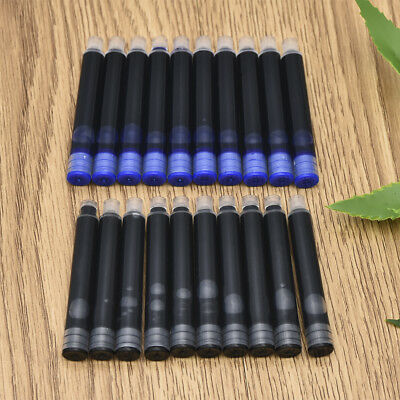 10/20Pcs Fountain Pen Refill Ink Cartridges Black Blue for Jinhao