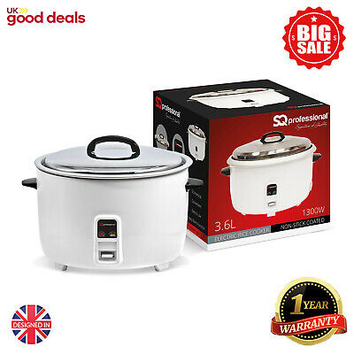 3.6L Non Stick Automatic Electric Rice Cooker Steamer Pot Warmer Warm Cook 1350W