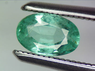 0.37 Ct Natural Emerald Oval Cut Lot Loose Gems Zambian Bluish Green 5.95 X 3.92