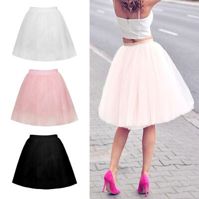 Charming Women Adult Tulle Skirts Ball Gown Dancing Wedding Party Petticoat