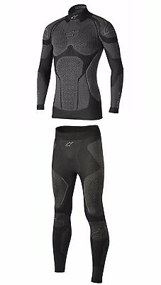 Alpinestars Ride Tech Thermal Bottoms/Top Motorbike/Golf Winter Base Layer Black