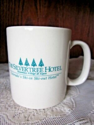 Aspen Snowmass Cup Mug Coffee Silvertree Hotel Vintage 1990s