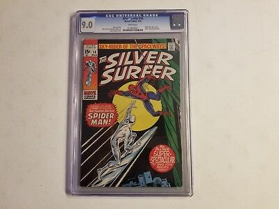 The Silver Surfer 14 CGC Graded 9.0 White Pages