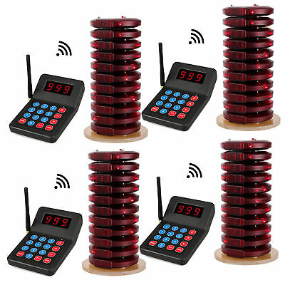 40*Call Coaster Pager+4*Restaurant Wireless Paging Queuing System for auto shop
