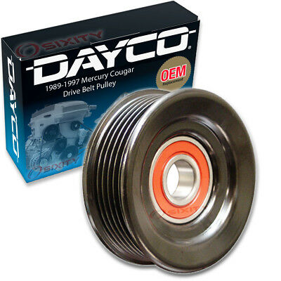 Dayco Drive Belt Pulley for 1989-1997 Mercury Cougar 3.8L V6 - Tensioner iq