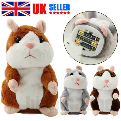 18CM Cute Talking Hamster Mouse Plush Dolls Voice Recording Speaking Toy Gift UK