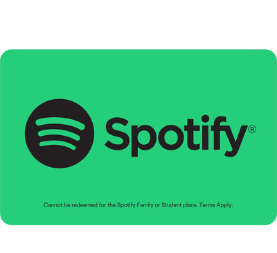 Spotify Gift Card 1, 3 or 6 Month Subscription - Email Delivery