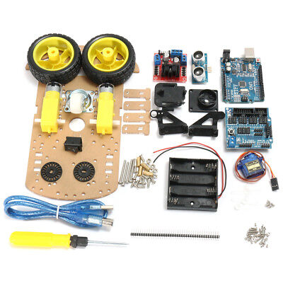 L298N DIY Smart Tracking Robot Car Chassis Kit Set 2WD Ultrasonic for Arduino