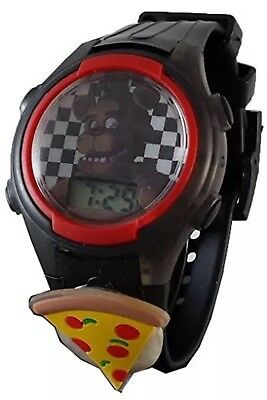 Light Up Five Nights at Freddy's Flashing Charm & Dial LCD Kids Watch FNAF -NEW-