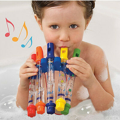 Colorful Water Flutes Bath Tub Music Toy Kids Children Bathing Accessories FB