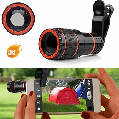 Universal HD 12x Optical Telescope Camera Lens Zoom Clip-on For Mobile Phone DP