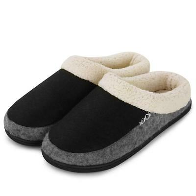 a41ff73bf Men's Memory Foam Slippers Slip On Clog Scuff House Shoes Indoor Outdoor  Style