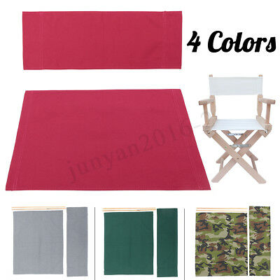 4 color Directors Chairs Replacement Canvas Seat and Back Covers Kit