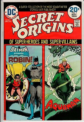 Secret Origins #7 VF 8.0 DC Bronze Age High Grade 1973 Batman, Robin, Aquaman!!!