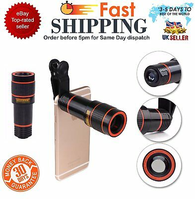 Clip-on 12x Optical Zoom HD Telescope Camera Lens For Universal Mobile Phone DP