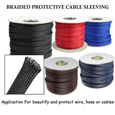 PET Cable Expandable Braided Sleeving Braiding Wire Sleeve Wraps Flame-retardant