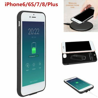 Qi Wireless Charger Charging Receiver Phone Cover Case for iPhone 7/7 Plus 6 IL