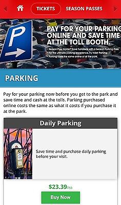 Any Six Flags Park! Great Adventure Magic Mountain etc Parking Pass 2018!