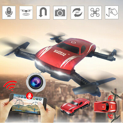 Foldable Selfie Drone 720P HD Camera 2.4G Wifi FPV RC Quadcopter Helicopter