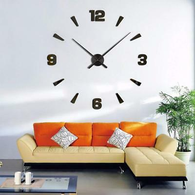 Modern Large 3D Mirror Surface Wall Orologio Sticker Home Office Room Home Decor