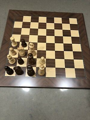 Dal Rossi Italy Maple/palisander Chess Set 1/2 Price With Slight Imperfection