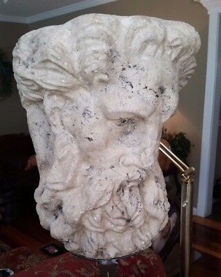 "ZEUS Bust Ancient Greek Mythology Sculpture Statue Olympian god 31"" Tall"