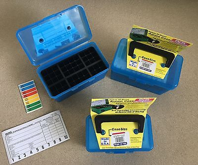 Mtm Case Gard Rifle Reloads Deluxe Ammo Case H50 Ammunition Clear Boxes Blue New