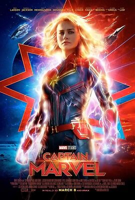 "Captain Marvel Art Poster 48x32"" 40x27"" 2019 Brie Larson Movie Film Print Silk"